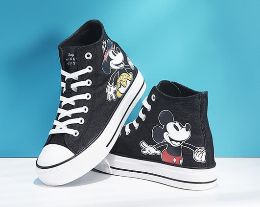 baskets montantes mickey